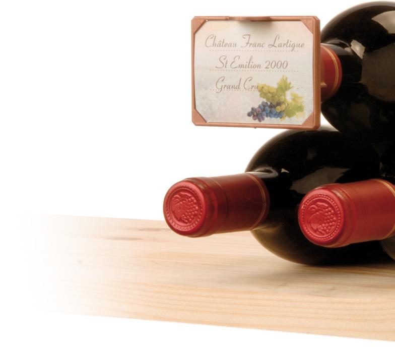 support etiquette bouteille gestion cave a vin accessoires vin. Black Bedroom Furniture Sets. Home Design Ideas